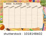 vector page form for planning ... | Shutterstock .eps vector #1018148602