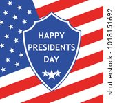 presidents day logo in flat... | Shutterstock .eps vector #1018151692
