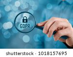 gdpr  general data protection... | Shutterstock . vector #1018157695