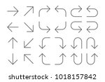 thin line vector arrows icon... | Shutterstock .eps vector #1018157842