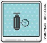 pressure sensor on factory... | Shutterstock .eps vector #1018161832
