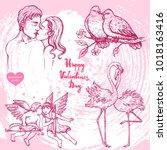 vector hand drawn illustration... | Shutterstock .eps vector #1018163416