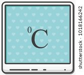 celsius symbol flat vector icon.