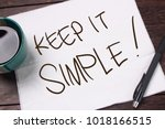 Stock photo keep it simple motivational inspirational quotes words wooden background 1018166515