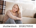 depression. middle aged... | Shutterstock . vector #1018170532