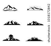 set of vector mountain and... | Shutterstock .eps vector #1018172842