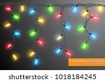 color garland  festive...   Shutterstock .eps vector #1018184245