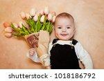 baby  a little gentleman lies... | Shutterstock . vector #1018186792