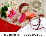 clothing and fashion... | Shutterstock . vector #1018192576