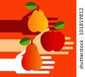 hands with fruit | Shutterstock .eps vector #101819812