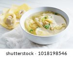chinese wonton dumpling in...   Shutterstock . vector #1018198546