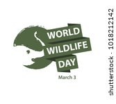 world wildlife day logo vector... | Shutterstock .eps vector #1018212142