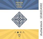 geometric arabic pattern. logo   Shutterstock .eps vector #1018214332
