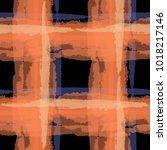 tartan. seamless grunge... | Shutterstock .eps vector #1018217146