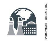 factory globe logo   Shutterstock .eps vector #1018217482