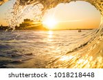 a wave breaking on long island  ... | Shutterstock . vector #1018218448