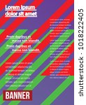 banner  brochure  flyer and... | Shutterstock .eps vector #1018222405
