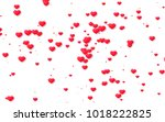red and pink heart. valentine's ... | Shutterstock . vector #1018222825