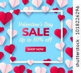 valentines day sale background... | Shutterstock .eps vector #1018226296