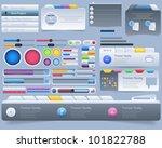 web elements vector design set | Shutterstock .eps vector #101822788