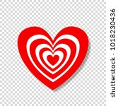 heart target abstract concept.... | Shutterstock .eps vector #1018230436