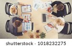 business people sitting and... | Shutterstock . vector #1018232275