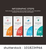 colorful of info graphic step | Shutterstock .eps vector #1018234966