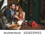 romance in the luxury... | Shutterstock . vector #1018235452