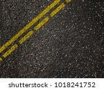 asphalt road with dividing... | Shutterstock . vector #1018241752