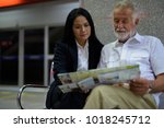 portrait of mature multi ethnic ... | Shutterstock . vector #1018245712