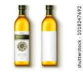 sunflower oil mockup  package... | Shutterstock .eps vector #1018247692