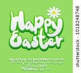 vector fresh spring greeting... | Shutterstock .eps vector #1018248748