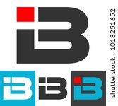 initial letter ib logo vector.... | Shutterstock .eps vector #1018251652