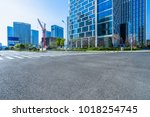 city empty traffic road with... | Shutterstock . vector #1018254745