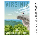 virginia  united states retro... | Shutterstock .eps vector #1018256995