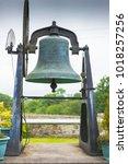 large church bell  at aughavas  ...   Shutterstock . vector #1018257256
