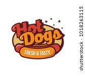 hot dog logo vector | Shutterstock .eps vector #1018263115