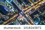 aerial view of bangkok city... | Shutterstock . vector #1018265872