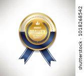 premium commercial golden red... | Shutterstock .eps vector #1018268542