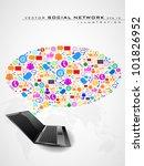 social network  communication... | Shutterstock .eps vector #101826952