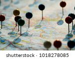 Closeup Of Pins On The Map...