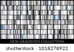 silver gradient set background... | Shutterstock .eps vector #1018278922
