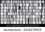 silver gradient set background...   Shutterstock .eps vector #1018278925