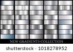 silver gradient set background... | Shutterstock .eps vector #1018278952