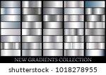 silver gradient set background... | Shutterstock .eps vector #1018278955
