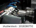 operator machining process mold ... | Shutterstock . vector #1018280752