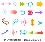 vector colorful arrows... | Shutterstock .eps vector #1018281736