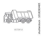 line flat vector icon... | Shutterstock .eps vector #1018283485