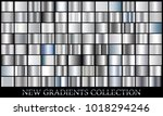 silver gradient set background... | Shutterstock .eps vector #1018294246