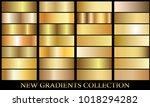 gold gradient set background... | Shutterstock .eps vector #1018294282